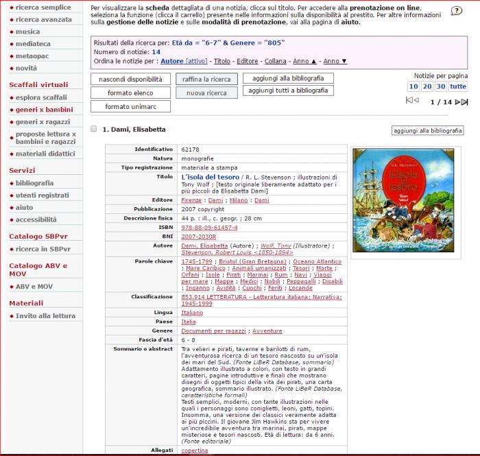 Scheda derivata da Liberdatabase